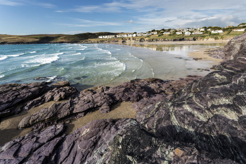 The group of friends were walking back to Polzeath along a cliff-side coastal path from Rock when the accident occurred (file photo). (Getty)