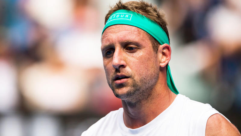 Tennys Sandgren in action during the quarterfinals of the 2020 Australian Open on January 28 2020, at Melbourne Park in Melbourne, Australia. (Photo by Jason Heidrich/Icon Sportswire via Getty Images)