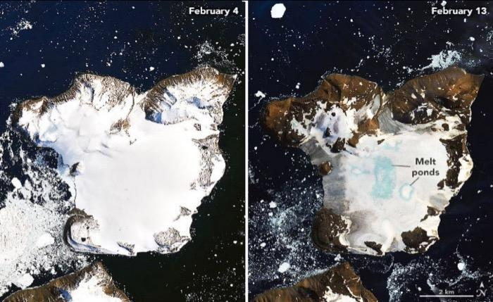 NASA graphic showing ice melt in the area (THOR)