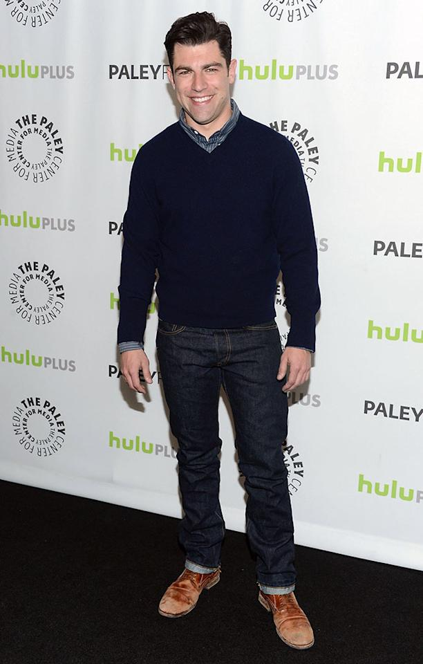 "Max Greenfield attends the 30th Annual PaleyFest featuring the cast of ""New Girl"" at Saban Theatre on March 11, 2013 in Beverly Hills, California."