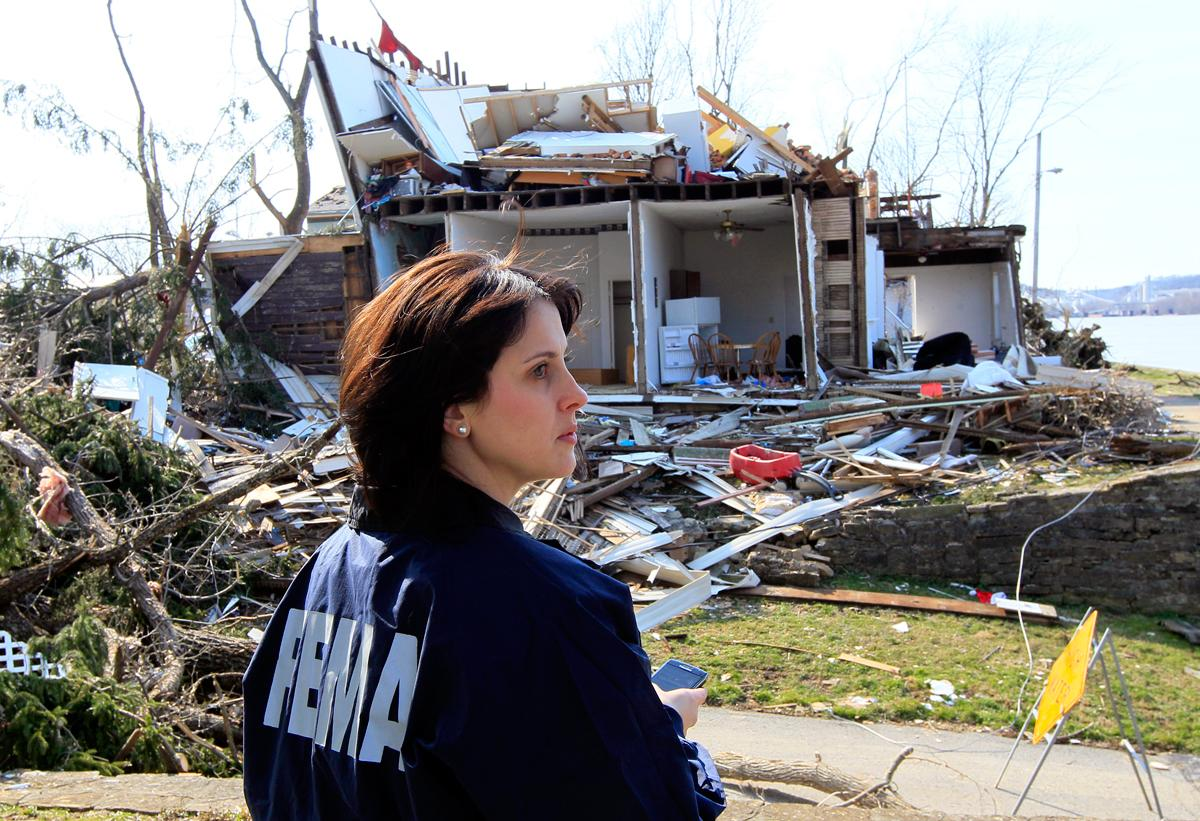 The Federal Emergency Management Agency (FEMA) was called into action on several occasions this year, including the rebuilding efforts after a record-breaking drought, severe tornadoes and hurricanes. (Al Behrman/AP Photo)