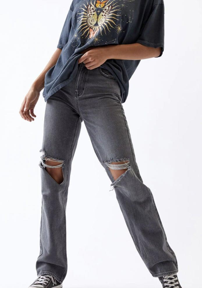 <p>I haven't owned anything from PacSun since I was a teenager but I'm making an exception for these incredible <span>Washed Black Ripped '90s Boyfriend Jeans</span> ($60). These jeans fit perfectly on my 5'8 friend and my 5'2 length. </p>
