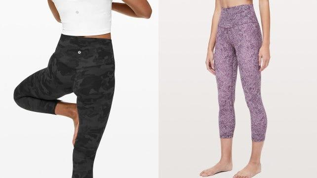 Barely there leggings are the only things we want to work out in.