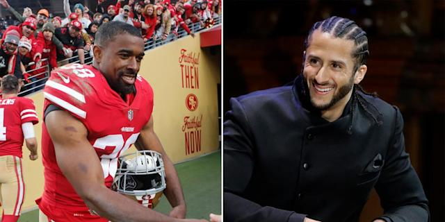 49ers safety Antone Exum uses music to express his thoughts on social injustice on his latest song, 'Officer Kaepernick.'