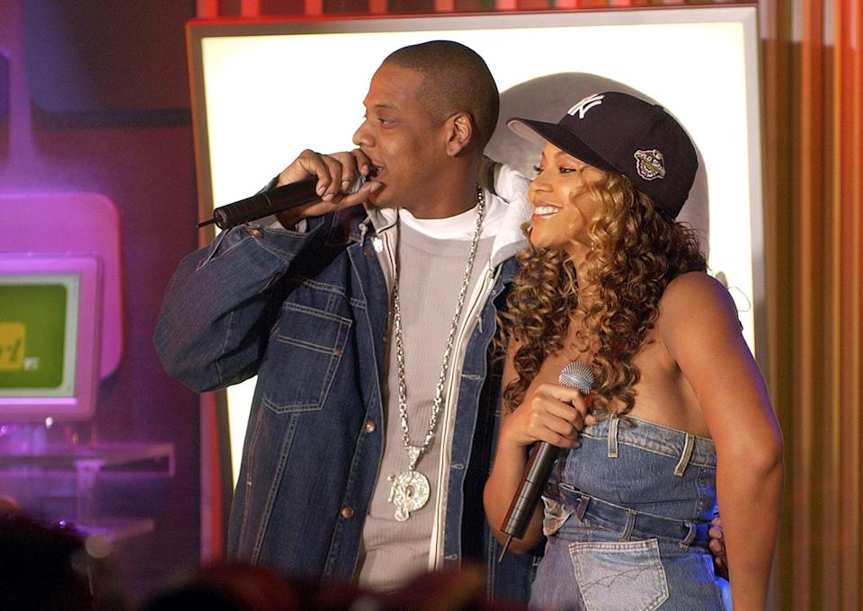 <p>Beyoncé and Jay Z performed on <b>TRL</b> together in 2002.</p>