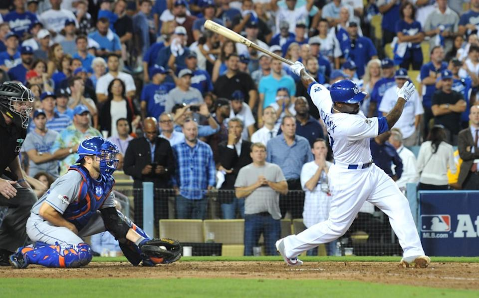 Howie Kendrick strikes out against the New York Mets, eliminating the Dodgers in the 2015 NLDS.