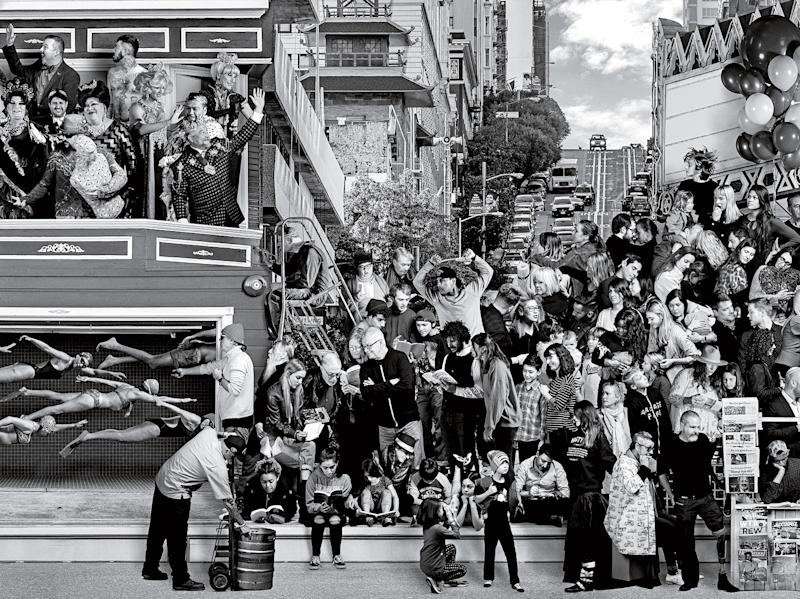 French street artist JR's new work tries to capture all the people of San Francisco, from millionaires to the homeless, in a single mural.