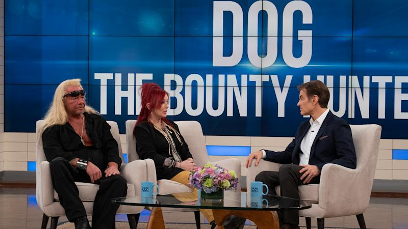 "Duane ""Dog"" Chapman and Moon Angell discuss their relationship with Dr. Oz. (Photo Credit: Sony Pictures Television)"