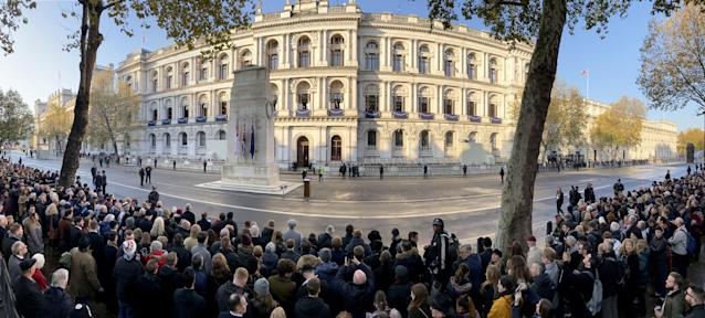 A two-minute silence was held across the country at 11am (Picture: SWNS)