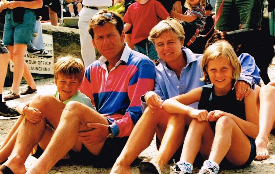 The Twiggs on a family holiday to Salcombe in Devon in 2000. The picture was taken before the Junior Fun Run around Salcombe, which Georgie won.