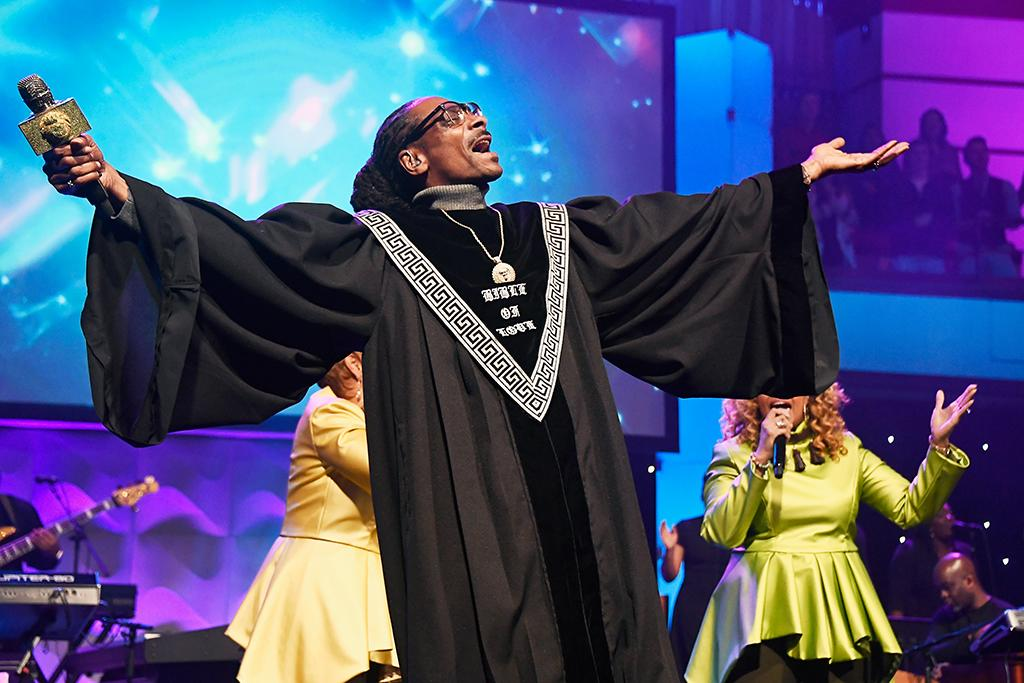 <p>Can we get a hallelujah!? The rapper wowed the congregation at BET's 19th Annual Super Bowl Gospel Celebration at Bethel University on Thursday night in St. Paul, Minn. (Photo: Frazer Harrison/Getty Images for BET) </p>