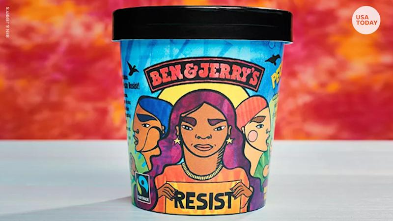 "Ben & Jerry's launched its ""Pecan Resist"" flavor in 2018."
