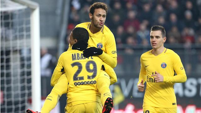 Paris Saint-Germain ended up as comfortable 4-1 winners at Rennes, with Neymar the star of the show in the Ligue 1 clash.