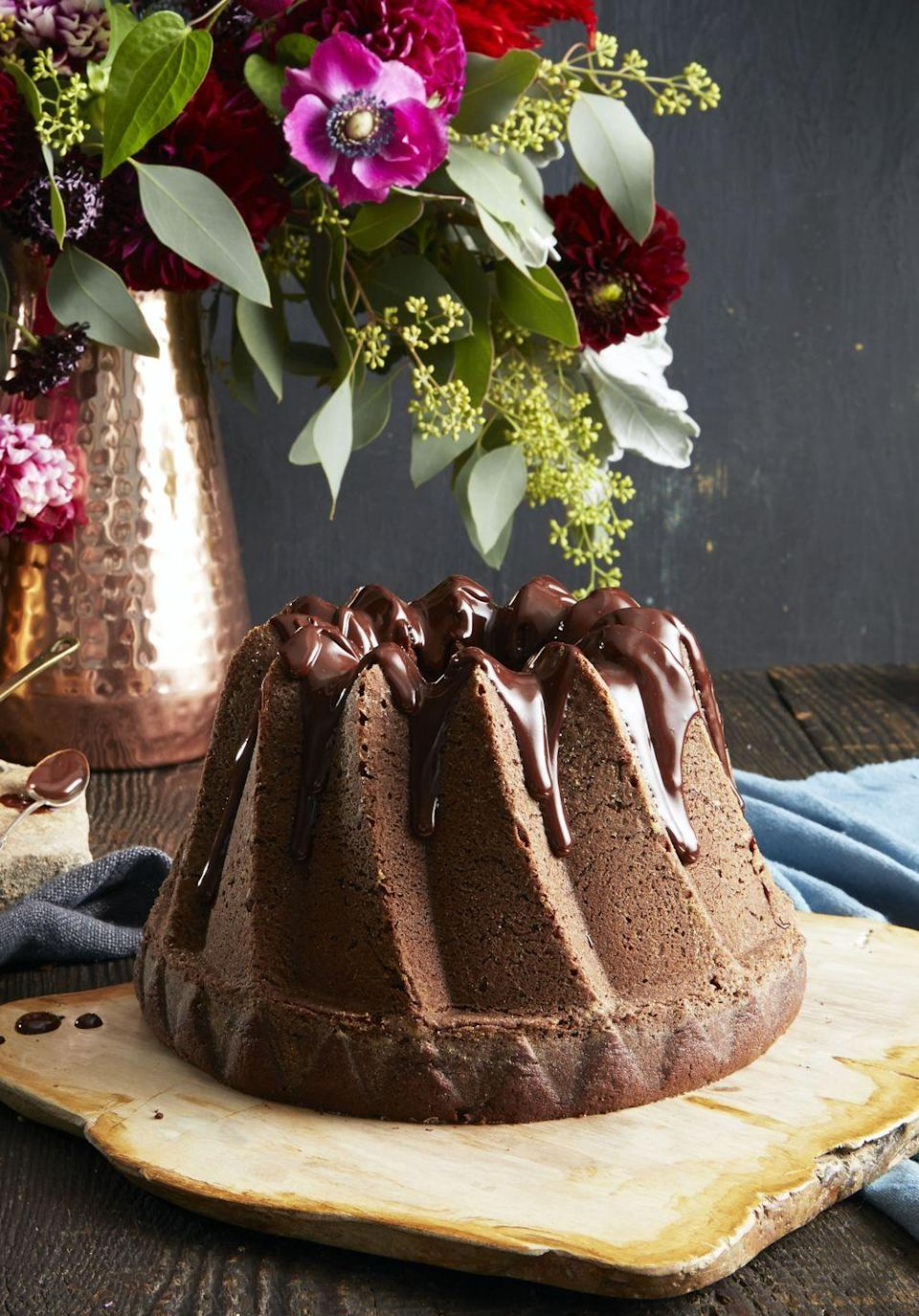 """<p>Does Mom love chocolate <em>and</em> coffee? Well, we've got her covered with this coffee-infused bundt. </p><p><em><a href=""""https://www.goodhousekeeping.com/food-recipes/dessert/a35180/double-chocolate-bundt/"""" rel=""""nofollow noopener"""" target=""""_blank"""" data-ylk=""""slk:Get the recipe for Double Chocolate Bundt »"""" class=""""link rapid-noclick-resp"""">Get the recipe for Double Chocolate Bundt »</a></em></p>"""