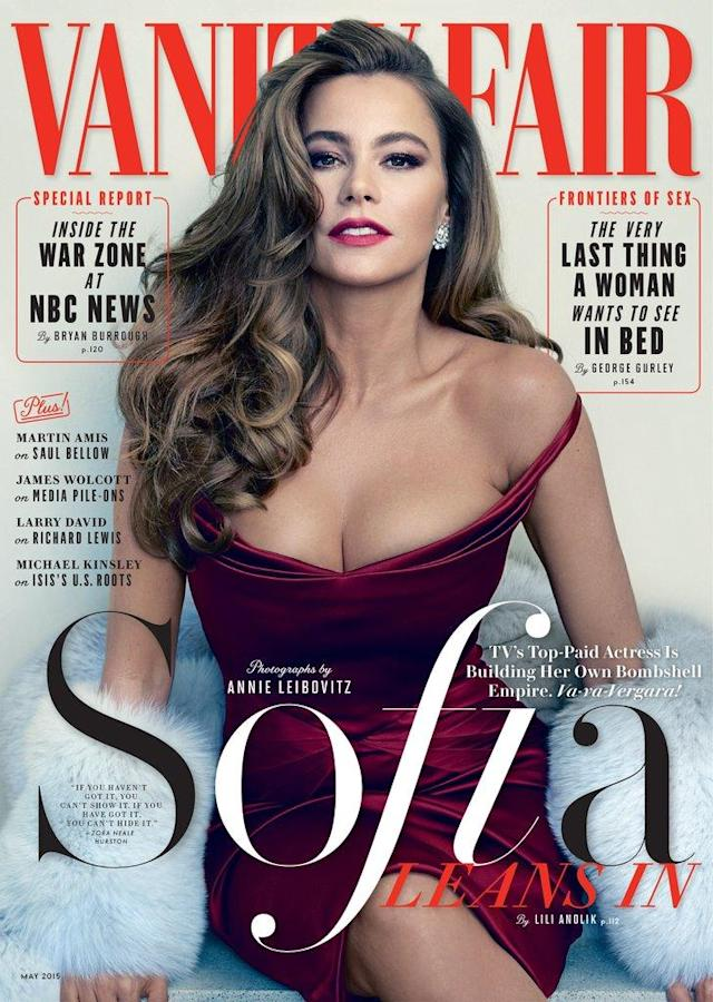 Sofia Vergara on the May 2015 cover of <em>Vanity Fair</em>. (Photo: <em>Vanity Fair</em>)