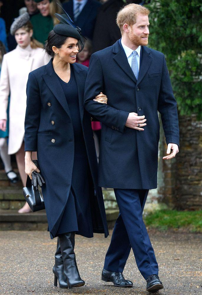 Meghan Markle and Prince Harry on Christmas 2018 | Tim Rooke/REX/Shutterstock