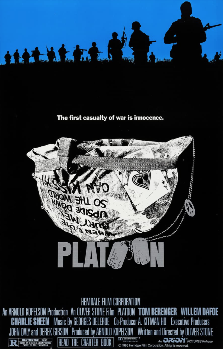 <p>Staying with Vietnam, there's <em>Platoon</em>, Oliver Stone's 1986 war classic and very much personal endeavor. The film's aesthetic is near documentarian, and it makes the case for being the best war film of all time. The fact that it's on Netflix is a damn blessing. </p>