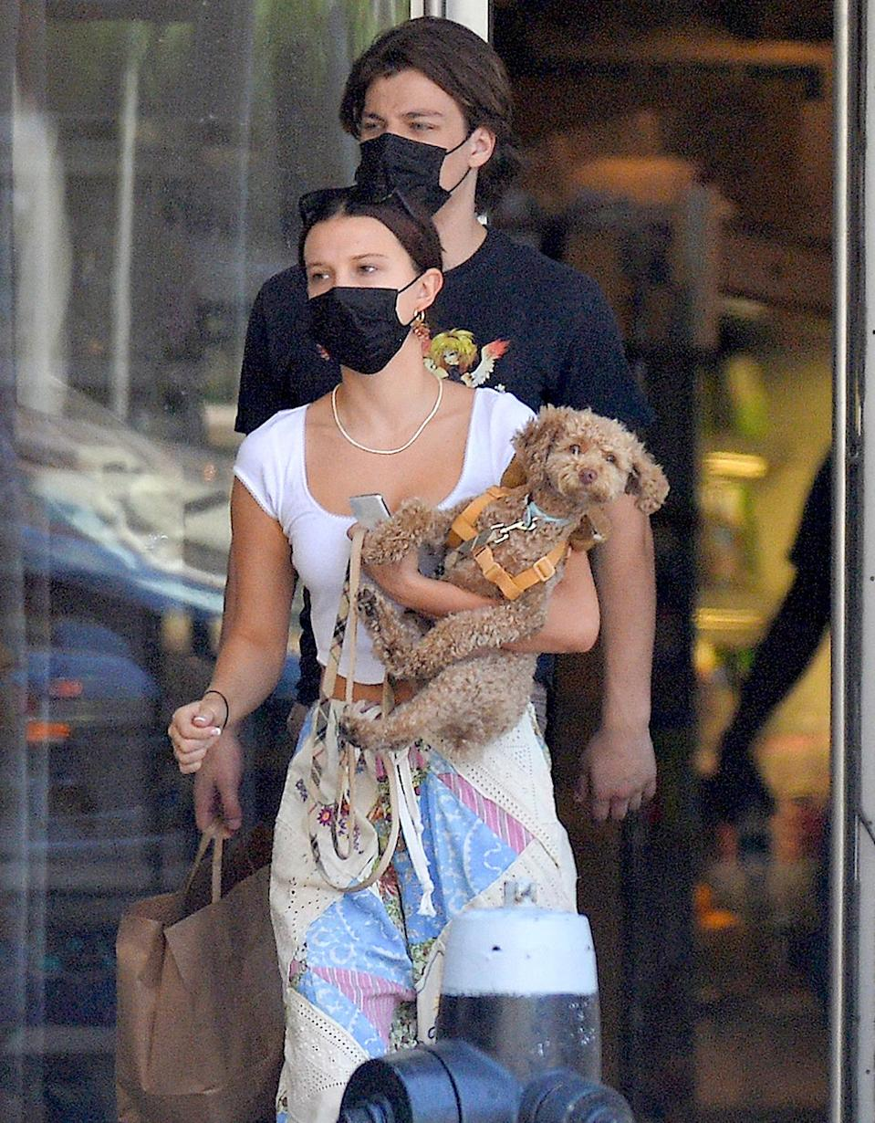 <p>Millie Bobby Brown and Jake Bongiovi step out together in N.Y.C. on June 19.</p>