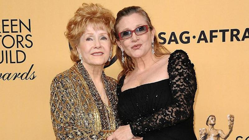 Carrie and Debbie at last year's SAG Awards. Source: Getty.