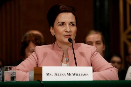 FILE PHOTO: Jelena McWilliams, chairman of the Federal Deposit Insurance Corporation, on Capitol Hill in Washington