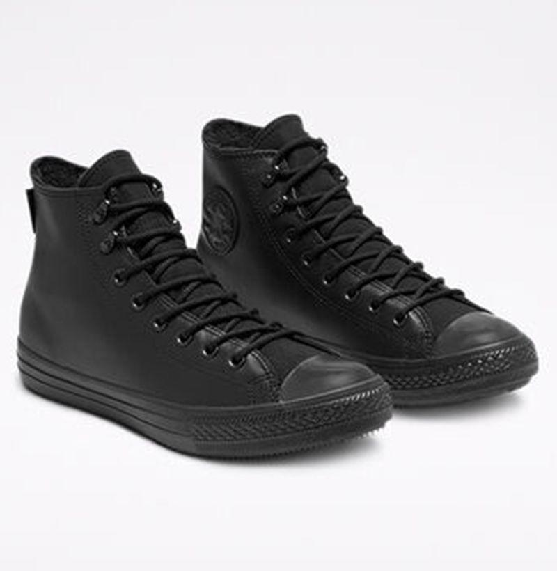 """<p><strong>Converse</strong></p><p>converse.com</p><p><strong>$110.00</strong></p><p><a href=""""https://go.redirectingat.com?id=74968X1596630&url=https%3A%2F%2Fwww.converse.com%2Fshop%2Fp%2Fwinter-gore-tex-chuck-taylor-all-star-unisex-high-top-shoe%2F165935C_090.html&sref=https%3A%2F%2Fwww.esquire.com%2Fstyle%2Fmens-fashion%2Fg29339512%2Fbest-winter-sneakers%2F"""" rel=""""nofollow noopener"""" target=""""_blank"""" data-ylk=""""slk:Buy"""" class=""""link rapid-noclick-resp"""">Buy</a></p><p>A few years ago, Converse starting teamed up with the weather-proofing fabric savants at Gore-Tex to upgrade some of the brand's most iconic silhouettes, including the Chuck Taylor. Extra water-wicking features—and a pitch black, inky color way—render an already durable shoe damn-near indestructible. </p>"""
