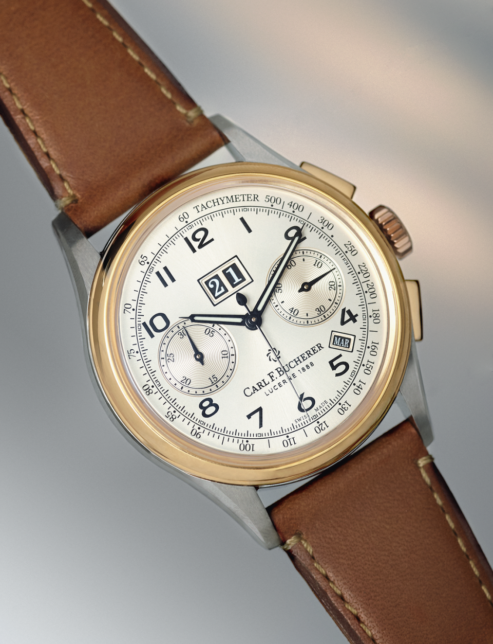 """<p>Heritage BiCompax Annual</p><p><a class=""""link rapid-noclick-resp"""" href=""""https://www.bucherer.com/uk/en/watches/our-brands/carl-f-bucherer?categories=watches&filter=%7Bwatches%7D%7Bfacetedsecondlevelcategory_s%7D%7Bcarl-f-bucherer%7D&gclid=CjwKCAiA8qLvBRAbEiwAE_ZzPbqj1QvVqlT8IWv2qdsghzKQpRx4Ib6hu4VMb6IvC6SIZf-Xghtj7RoC8KkQAvD_BwE&sort=relevance#activePage=0"""" rel=""""nofollow noopener"""" target=""""_blank"""" data-ylk=""""slk:SHOP"""">SHOP</a></p><p> The resurgent independent watchmaker's latest model ticks off a number of current trends. The 41mm Heritage Bicompax Annual is based on a Fifties' archive piece with a """"bicompax"""" two-counter dial, giving it a mid-century feel (tick); it's available in two-tone steel and rose gold (tick); and it's also limited (tick). There'll be 888 of both the two-tone and steel models, determined by the company's founding year of 1888, rather than out of deference to gamblers. It's decent value, too. Behind that balanced dial, there's a clever movement fuelling a chronograph and an annual calendar with date and month indications that only need adjusting on 1 March. The steel is a touch over £5k, with a premium for the solid gold detailing in the two-tone. Modest by the industry's lengthy yardstick.</p><p> £8,000; <a href=""""https://www.carl-f-bucherer.com/en?gclid=CjwKCAiA8qLvBRAbEiwAE_ZzPfih-oZpDgK_Sn65iKAO1F-OEzbDri_2DdjUWB5zuno7Fw0kl36oehoCamIQAvD_BwE"""" rel=""""nofollow noopener"""" target=""""_blank"""" data-ylk=""""slk:carl-f-bucherer.com"""" class=""""link rapid-noclick-resp"""">carl-f-bucherer.com</a><br></p>"""