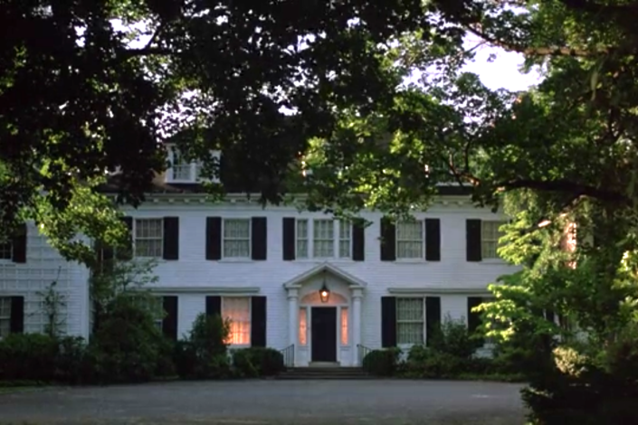 """<p>While Tom Hanks and his briefcase are no where to be found on this property, the 1986 film starring Hanks and Shelley Long used this incredible eight-bedroom home for the exterior shots of <em>Money Pit</em>. While the movie portrays the house as the ultimate fixer-upper catastrophe, this home was actually owned by a 1952 gold metal Olympian. Most recently, this private residence <a href=""""https://www.realtor.com/realestateandhomes-detail/199-Feeks-Ln_Locust-Valley_NY_11560_M45153-16227"""" rel=""""nofollow noopener"""" target=""""_blank"""" data-ylk=""""slk:sold for $3.5 million"""" class=""""link rapid-noclick-resp"""">sold for $3.5 million</a>.</p><p>199 Feeks Lane, Locust Valley, NY 11560</p>"""