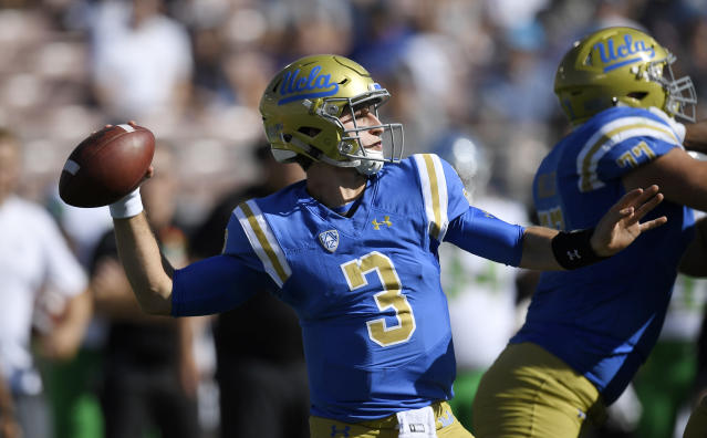 Josh Rosen declared he was leaving UCLA for the NFL draft. (AP)
