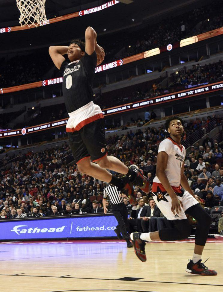 Miles Bridges at the 2016 McDonald's All-American Game. (Getty)