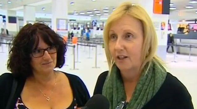 Some tourists changed their holiday destinations when they got news that their flights were cancelled. Photo: 7 News
