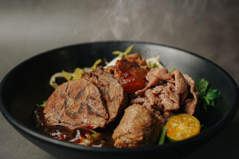 Bowl of beef noodles from Blanco Court