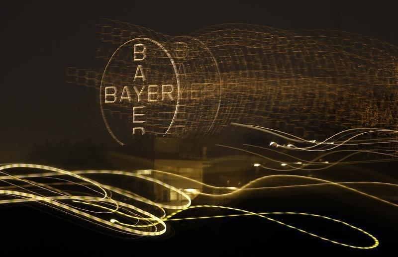 The logo of Germany's largest drugmaker Bayer is pictured in Leverkusen