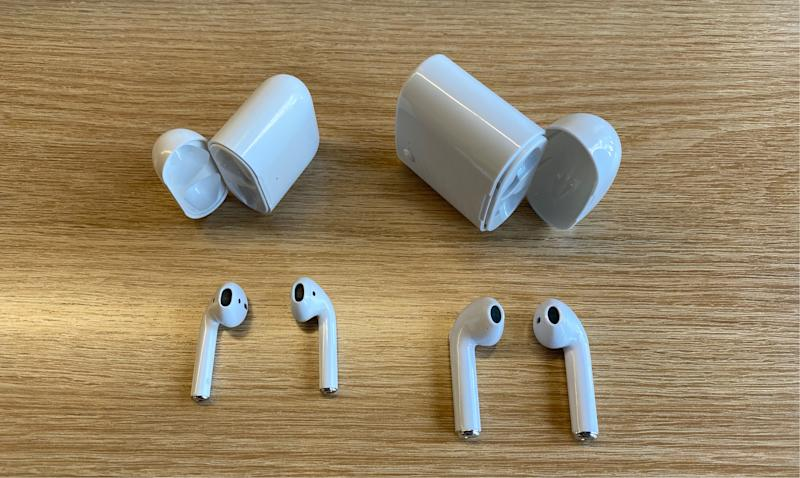 The I7s TWS are comically large AirPods knockoffs. (Image: Howley)