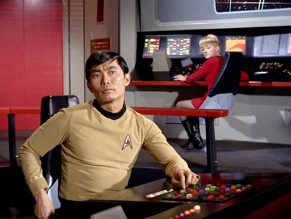 """George Takei says the U.S. Space Force's new logo is too similar to one from """"Star Trek."""" (Photo: CBS via Getty Images)"""