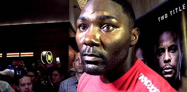 Anthony Johnson UFC 210 prefight scrum