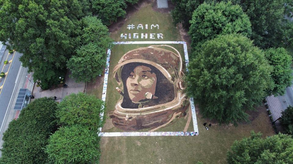 AimHigher Earthwork with tile frame Oct 11