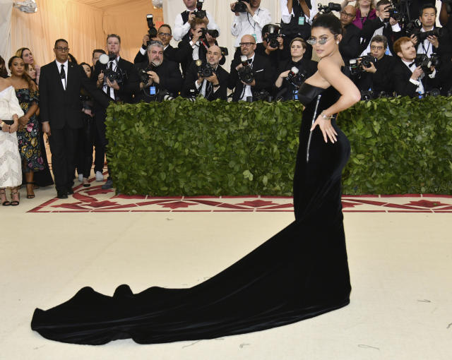 Kylie Jenner attends The Metropolitan Museum of Art's Costume Institute benefit gala, May 7, 2018, in New York. (Photo by Charles Sykes/Invision/AP)