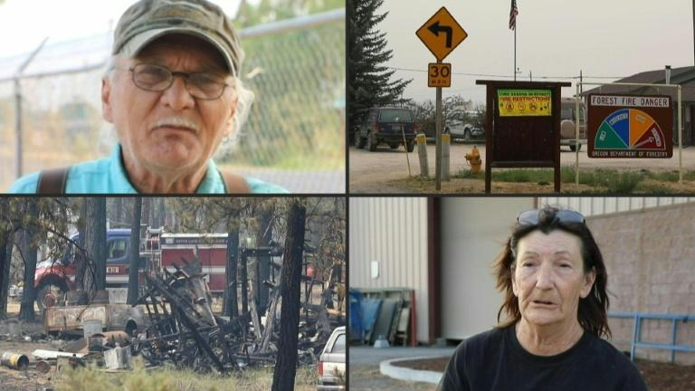 'I got no place to go': Southern Oregon residents flee from wildfire