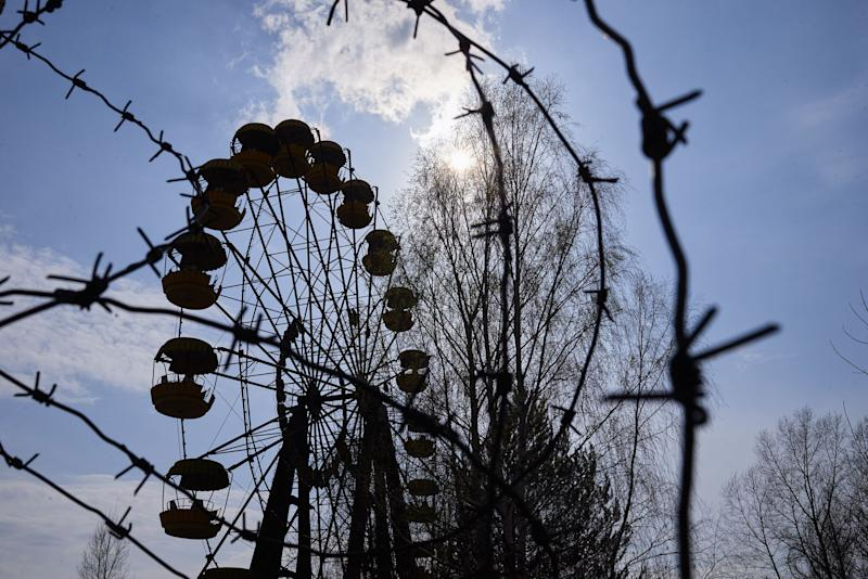 A view shows the amusement park in the Pripyat, near the Chernobyl nuclear power plant in the Exclusion Zone, Ukraine. (Photo: Vitaliy Holovin/Corbis via Getty images)