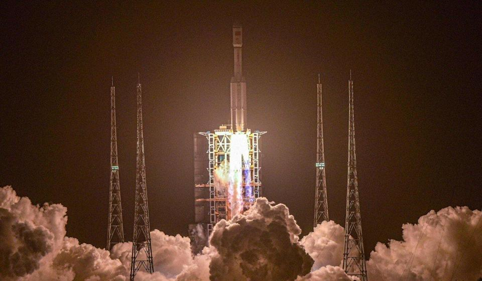 China's ambitions include missions to the moon and Mars as well as the space station. Photo: STR/AFP