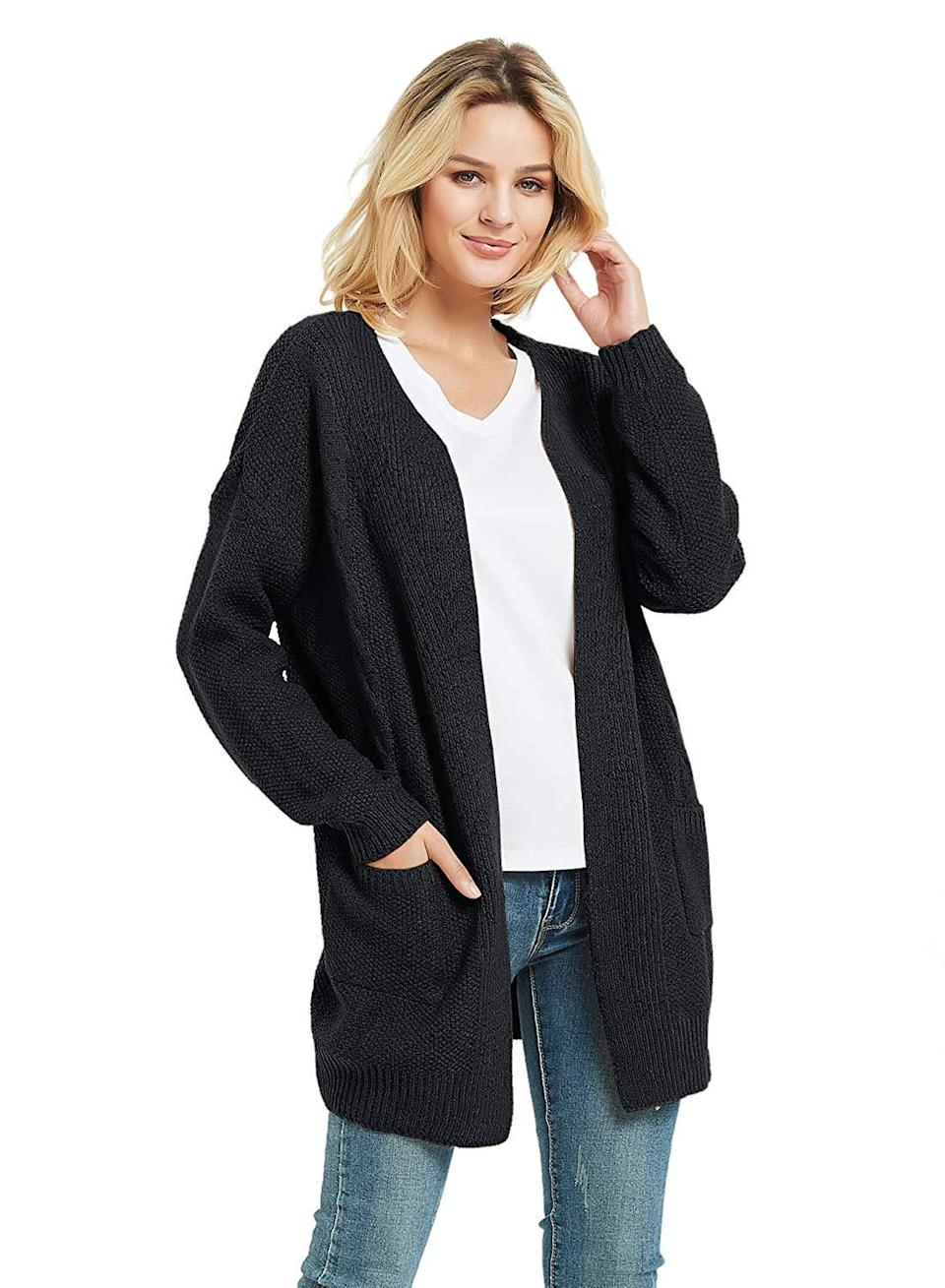 """<a href=""""https://amzn.to/314adz9"""" rel=""""nofollow noopener"""" target=""""_blank"""" data-ylk=""""slk:Cable-Twist Boyfriend Cardigan"""" class=""""link rapid-noclick-resp""""><h3>Cable-Twist Boyfriend Cardigan</h3></a><br><strong>Maddie</strong><br><br><strong>How She Discovered It:</strong> """"Cruising the web for an under-$50, top-rated slouchy sweater I could wear with and layer over just about anything.""""<br><br><strong>Why It's A Hidden Gem: </strong>""""The quality of this sweater is surprisingly high for the low price. Plus, it feels more unique than picking up this season's version from Zara or H&M along with <em>everyone</em> else. It's kinda like my grandma made it or my mom wore...but chic.""""<br><br><strong>futurino</strong> Cable-Twist Long Boyfriend Cardigan, $, available at <a href=""""https://amzn.to/2Vu0Fw0"""" rel=""""nofollow noopener"""" target=""""_blank"""" data-ylk=""""slk:Amazon"""" class=""""link rapid-noclick-resp"""">Amazon</a>"""