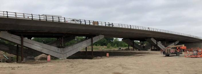 The North Main Street bridge to the eventual Panther Island is scheduled to open to traffic by June 28.