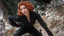 """A decade after she first appeared in <em>Iron Man 2</em>, and a year after the character met her doom in <em>Avengers: Endgame</em>, Scarlett Johansson's <a href=""""https://uk.movies.yahoo.com/tagged/black-widow"""" data-ylk=""""slk:talented assassin"""" class=""""link rapid-noclick-resp"""">talented assassin</a> will get her own movie in 2020. Florence Pugh and Rachel Weisz are also a part of the cast. (Credit: Disney/Marvel)"""