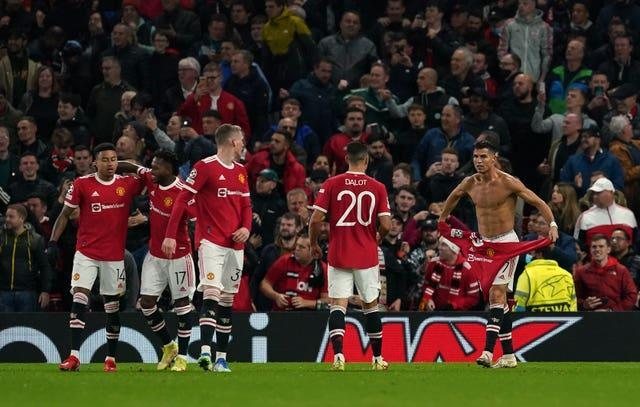 Ronaldo's goal sparked jubilant celebrations from a relieved United