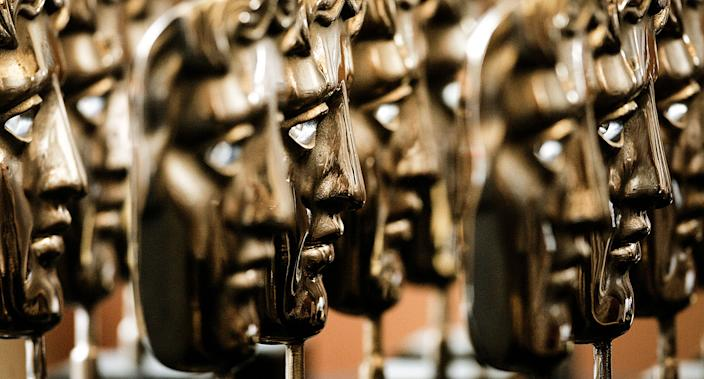 Bafta masks awaiting their winners (BAFTA/Marc Hoberman)