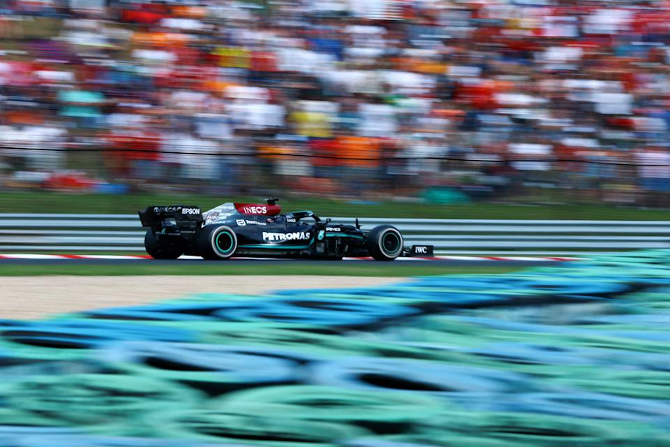 Lewis Hamilton drove a brilliant race, but had to settle for third. (AFP via Getty Images)