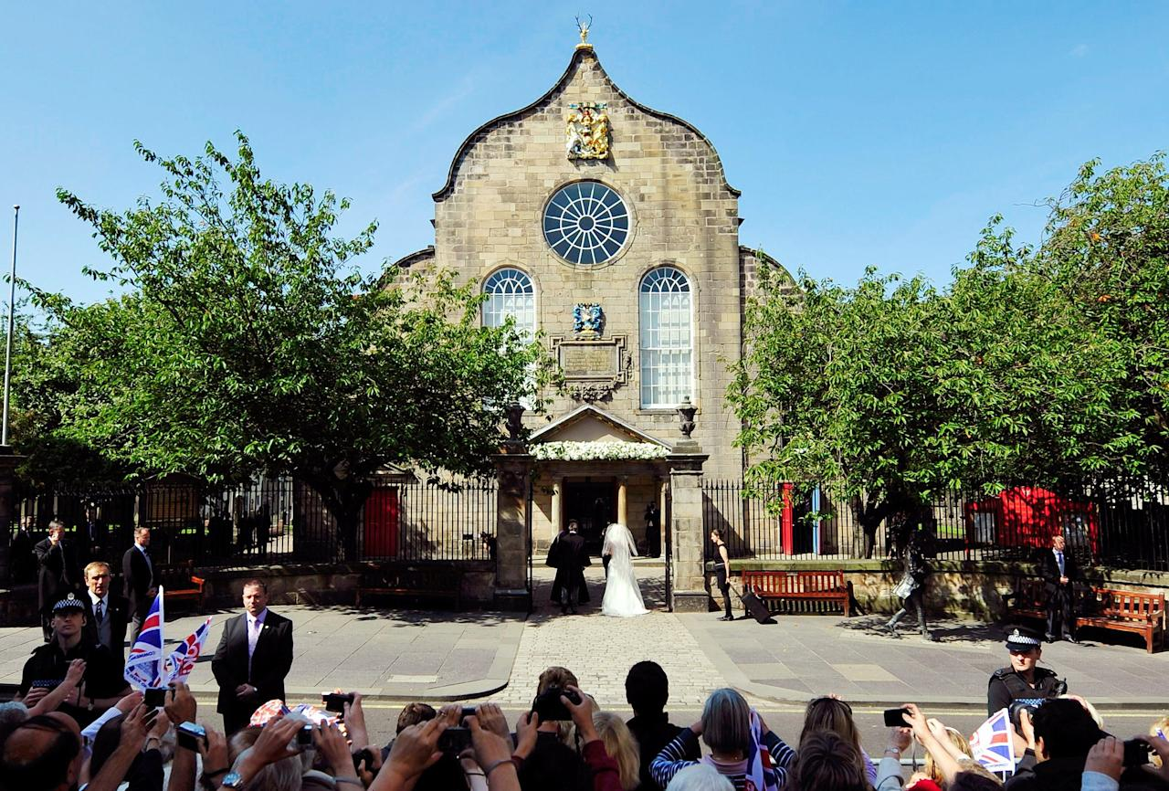 The wedding took place at Canongate Kirk in Edinburgh, Scotland — a small venue by royal wedding standards with about 400 guests. Zara's mother, Princess Anne, also got married in Scotland.