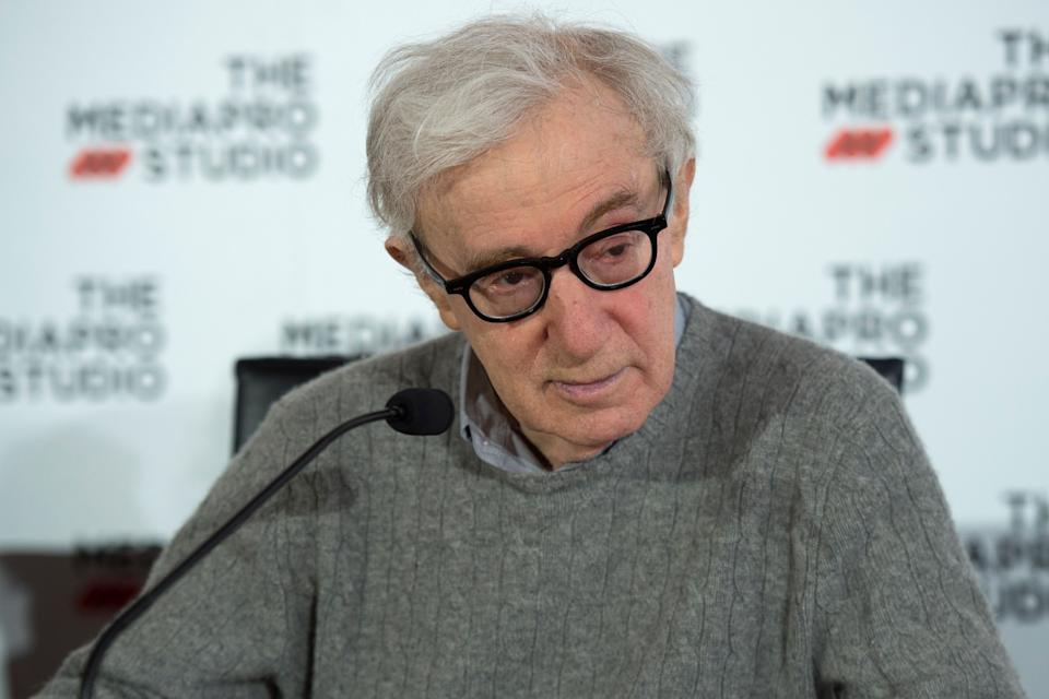 US director Woody Allen holds a press conference in the northern Spanish Basque city of San Sebastian, where he will start shooting his yet-untitled next film, on July 9, 2019. (Photo by ANDER GILLENEA / AFP)        (Photo credit should read ANDER GILLENEA/AFP via Getty Images)
