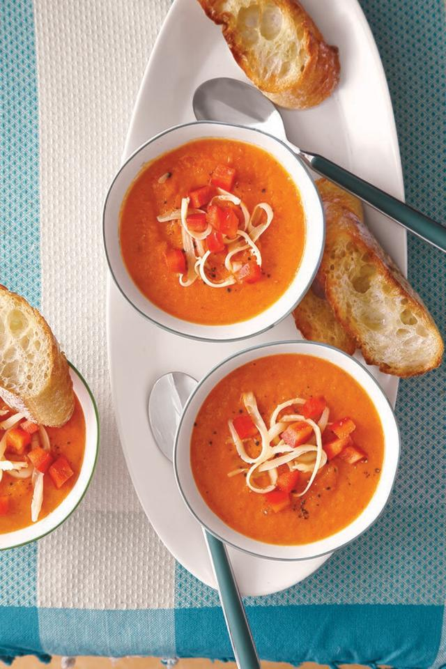 "<p>Red pepper meets gouda cheese for the perfectly balanced dinner or lunch option. This vibrant, spicy <a href=""https://www.myrecipes.com/soup-recipes"">soup recipe</a> is made simple with the help of your Instant Pot. </p> <p><a href=""https://www.myrecipes.com/recipe/instant-pot-red-pepper-soup-gouda"">Red Pepper Soup with Gouda Recipe</a></p>"