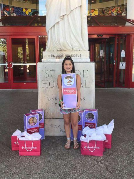 PHOTO: Bella Fricker, 11, of Georgia, runs her own non profit to raise money for dolls to give to children who are fighting cancer. (Valerie Fricker/Peace Love Bracelets Foundation)